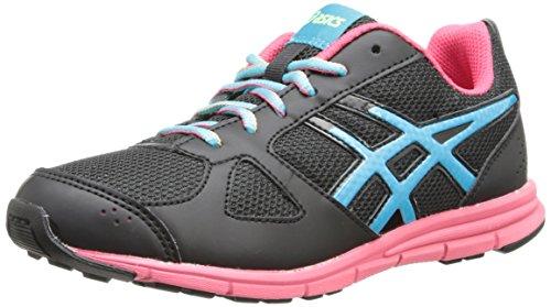 Price comparison product image Asics Lil' Muse Fit Training Shoe (Little Kid/Big Kid),Black/Turquoise/Raspberry,5 M US Big Kid