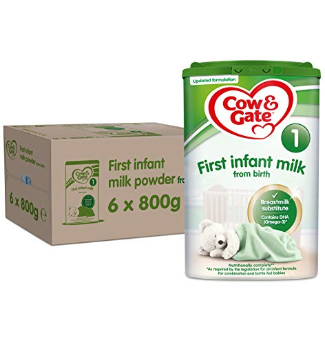 Cow & Gate 1 First Infant Milk Formula 800 g (Pack of 6)