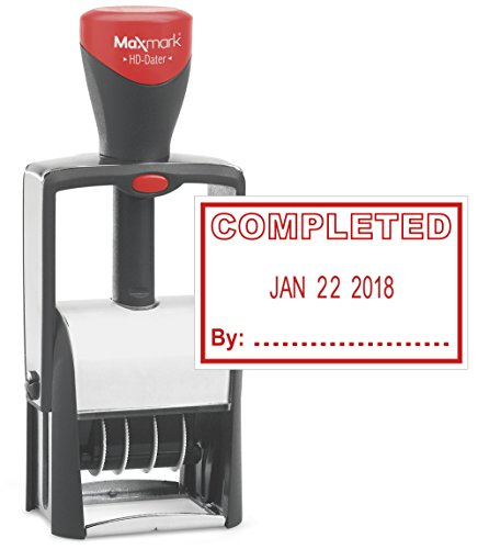(Heavy Duty Date Stamp with Completed Self Inking Stamp - RED Ink))
