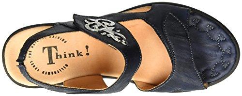 Think! Damen Nanet Slingback Blau (navy/kombi 88)