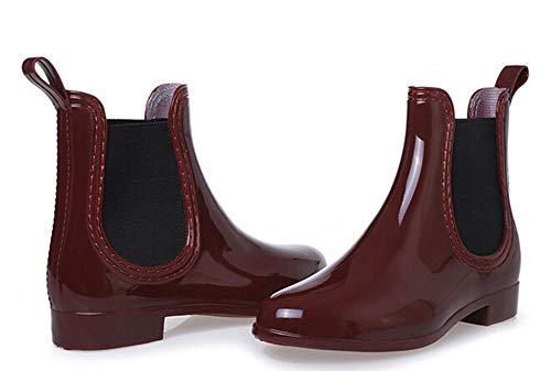 Botas Rojo Lluvia Zapatos Casual Pastaza Impermeable De Agua Caucho Mujer AqwZ1HSdHz