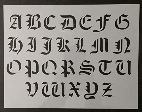 OutletBestSelling Reusable Sturdy Old Olde English Font Alphabet 11
