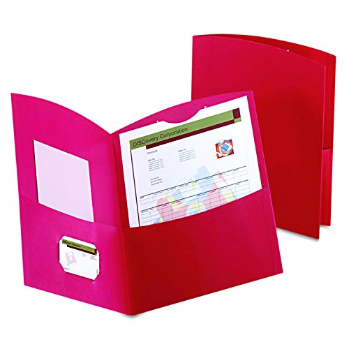 Oxford Contour Two-Pocket Folders, Red, Letter Size, 25 per Box, (5062558