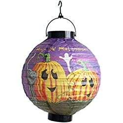 Lights for Paper Lanterns,Caopixx Halloween Decorations Paper Spider Ghost Bats Lantern for Ghost Festival (ONE, F)