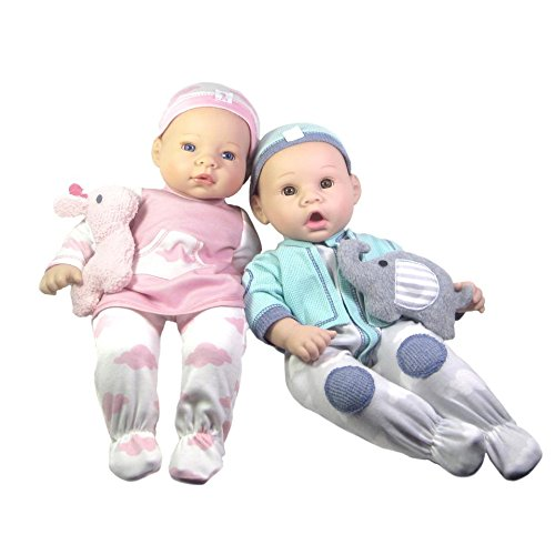 Madame Alexander Newborn Girl and Boy Twins Baby Doll - Blue/ Brown (Madame Alexander Newborn Doll)
