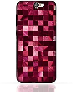 HTC ONE A9 TPU Silicone Case With Glamour Disco Squares