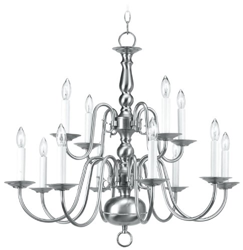 Livex Lighting 5012-91 Chandelier with No Shades, Brushed Nickel