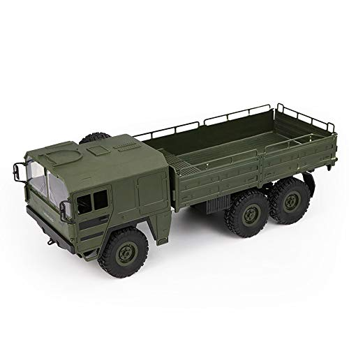 Vovomay JJRC Q63 RC 1:16 2.4G Remote Control 6WD Tracked Off-Road Military Truck Car RTR Toy (Green)