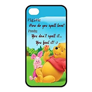 Mystic Zone Winnie the Pooh Piglet iPhone 4 Cases for iPhone 4/4S Cover Cartoon Fits Case KEK1346 by mcsharks