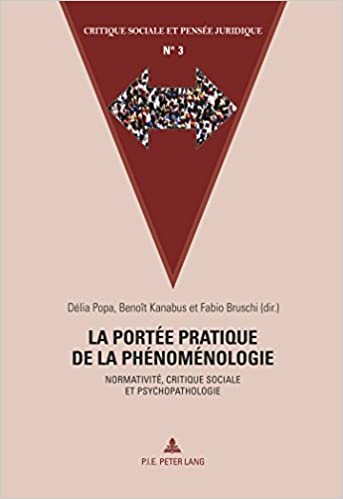Téléchargement La portee pratique de la phenomenologie: Normativite, critique sociale et psychopathologie pdf