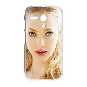 Motorola G Cell Phone Case White Amanda Seyfried Lights Face Film LSO7888602