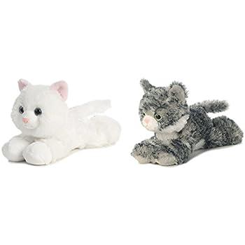 "Bundle of 2 Aurora 7.5"" Floppy Beanbag Cat Stuffed Animals - Lily & Sugar"