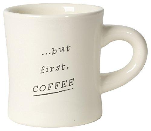 Design Stoneware (Now Designs Coffee Diner Mug (Set of 6), Off White)