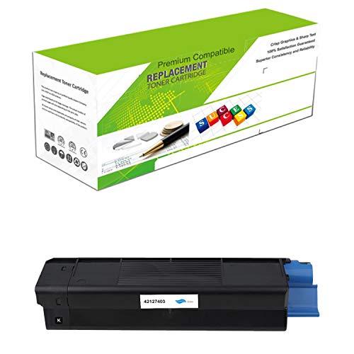 (Premium Ink&Toner | Re-Manufactured Toner Cartridge Replacement for 42127403 – Standard Yield Laser Printer Cartridge Compatible with OKI)