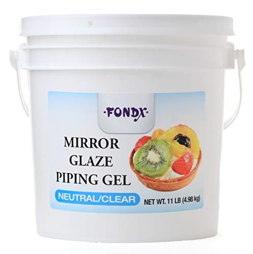 - FONDX Mirror Glaze Piping Gel 11 lb - Neutral/Clear