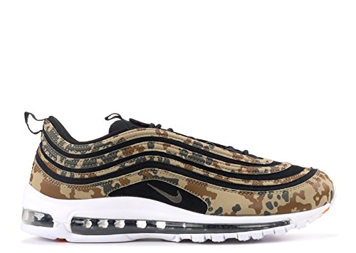 Nike Scarpe Uomo Sneakers Basse AJ2614 201 Air Max 97 Premium QS Bamboo/Black-DK Khaki-Sequoia