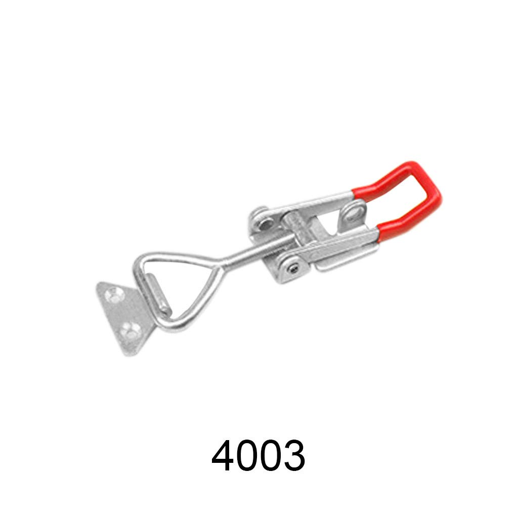Over Centre Carbon Steel Latch Trailer Catch Clamp Large Medium /& Small Center for Woodworking Machines Consoles Work Benches Quick Loading and Unloading Stable Clamping Force 16.5x4.8cm