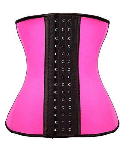 e53df043885 YIANNA Women s Underbust Latex Sport Girdle Waist Trainer Corsets Cincher  Hourglass Body Shaper Weight Loss