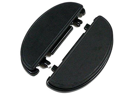 V-Twin 27-0162 - Black Driver Half Moon Footboard Set