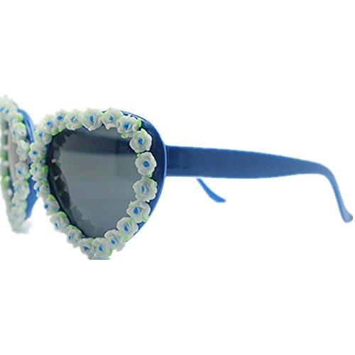 forma Gafas de de conducción de Peggy flores señora gafas la de sol UV playa Protección vacaciones Summer sol Gu corazón de a en de de Diseño Beach mano hechas la wFFASYxqPH