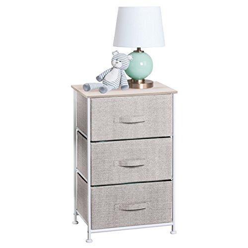 3-Drawer Dresser and Storage Organizer Unit for Nursery, Bedroom, Play Room - Linen (Collection 3 Drawer Dresser)