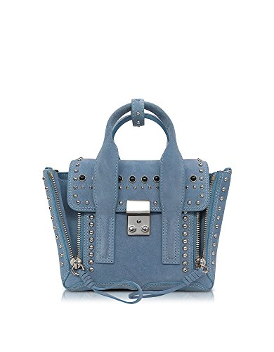 3.1 PHILLIP LIM FEMME AS170226SSSFR451 BLEU CUIR SAC À MAIN