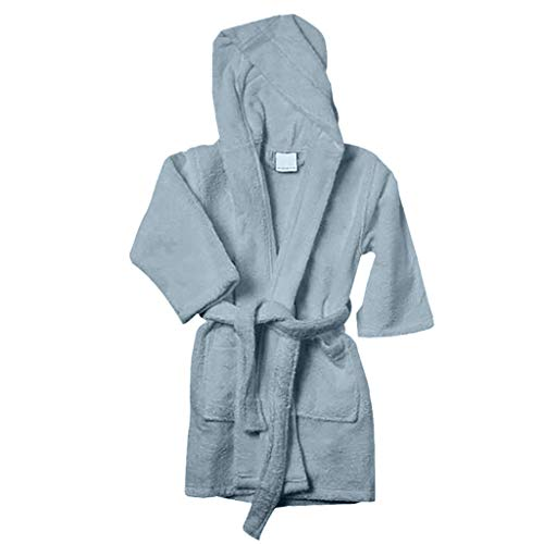 Caravalli Norwich Robes for Kids - Sky Hood Terry Cotton Robe for Boys & Girls (Boys Robe Cotton)
