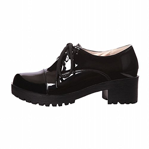Latasa Womens Classical Lace-up Oxford Shoes Black 36QRC