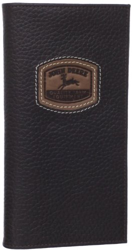 John Deere Checkbook (John Deere Men's Historical Logo Cheque Book Holder, Brown, One Size)