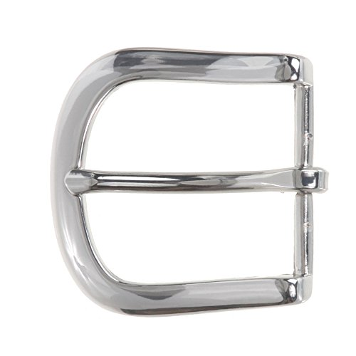 "1 1/2"" (38 mm) Nickel Free Single Prong Horseshoe Belt Buckle, Silver from beltiscool"