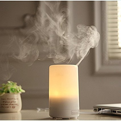 Ksera Usb Aroma Diffuser, Mini Ultrasonic Essential Oil Diffuser Portable Car Diffuser Cool Mist Air Humidifiers With 7 Colorful Led Lights,Waterless Auto Shut Off,Usb Powered For Car Office Home by Amazon