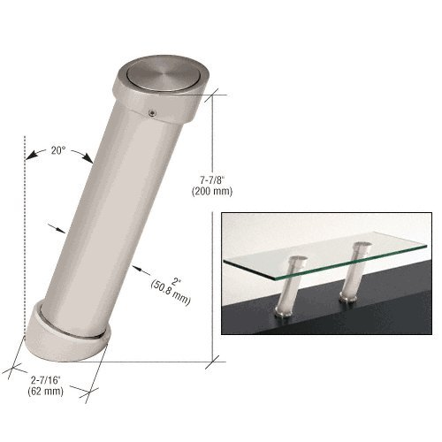 Satin Nickel 7-7/8'' UV Bonded Angled Countertop Support by CR Laurence