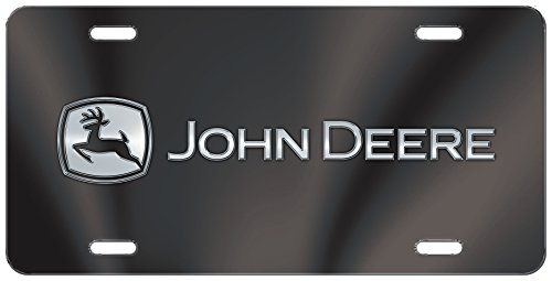 CHROMA 002018 Black John Deere Blk/Chr Acrylic Inlay License Plate