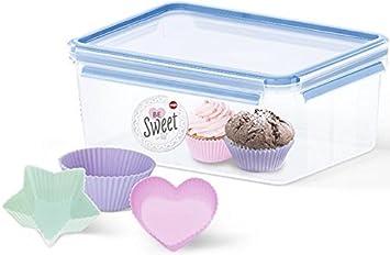 Amazoncom Emsa ClipClose Muffin Storage Box 37 L incl 3