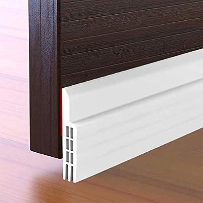 Amazon Com Suptikes Door Draft Stopper Under Door Seal For Exterior Interior Doors Strong Adhesive Door Sweep Soundproof Weather Stripping 2 W X 39 L White Home Improvement