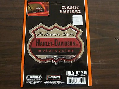 #3020 CHROMA HARLEY DAVIDSON MOTORCYCLES DECAL 4.5