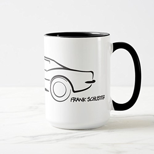 Zazzle 1968 Corvette Hardtop Blk Coffee Mug, Black Combo Mug 15 oz (Corvette Hardtop 62)