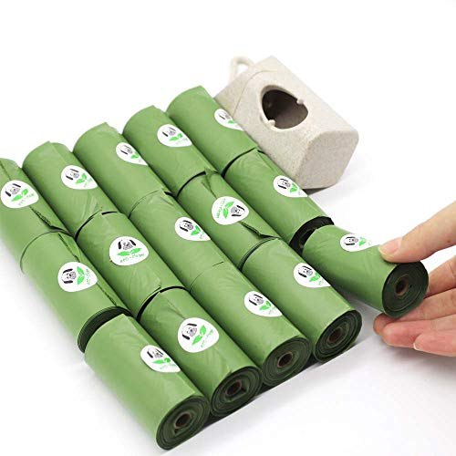 SILD Dog Poop Bags with Free Dispenser Unscented Portable Pet Waste Bags