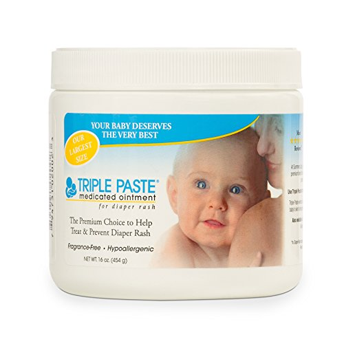 Diaper Cream Fragrance - Triple Paste Medicated Ointment for Diaper Rash, 16-Ounce