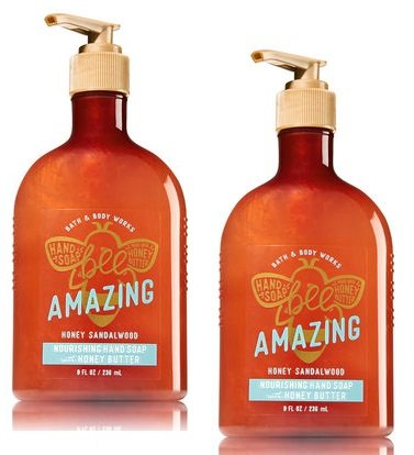 Bath and Body Works 2 Pack Honey Sandalwood Hand Soap with Honey Butter. 8 Oz. by BATH & BODY WORK