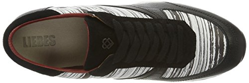 Liebeskind BerlinLf173100 Bmono, Zapatillas Mujer Multicolor (ivory White/Schwarz)