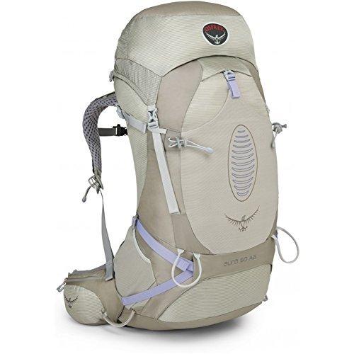 Osprey Aura AG 50 Womens Hiking Backpack Small Silver Streak [並行輸入品] B07DVZ6GWJ