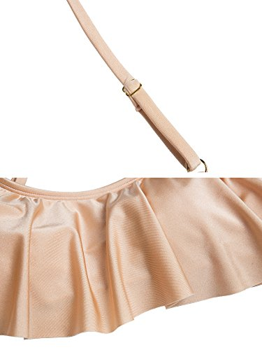 Costume Alta Wantdo Vita Pezzi Due A Bikini Donna Rosa dY7rqYO