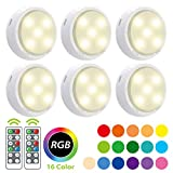 Wireless LED Puck Light, OxyLED RGB Color Changing LED Under Cabinet...