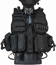 Tactical Vest Durable Mesh Vest with Detachable Belt & Hol
