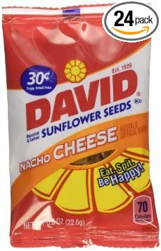 David Sunflower Nacho – Semillas de sabor de queso – bolsas ...