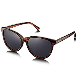 AVAWAY Retro Polarised Sunglasses for Women UV Protection Driving Eyewear with Acetate Frame