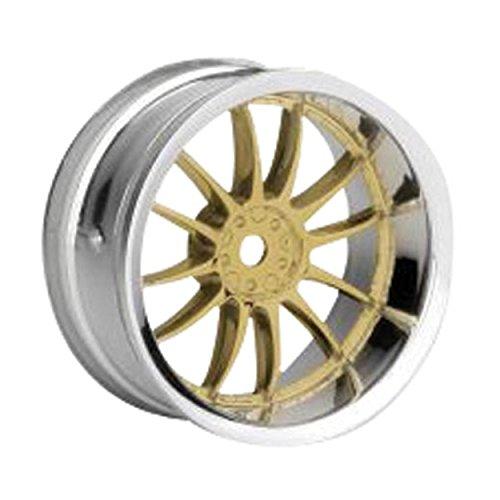 (HPI Racing 3298 Work XSA 02 C Wheels, 26mm, Gold and Chrome)
