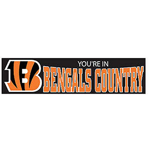 CINCINNATI BENGALS NFL APPLIQUE & EMBROIDERED PARTY BANNER (96X24) SIZE ONE by Party Animal