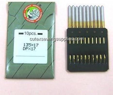 10 Titanium Portable Walking Foot Machine Needles 135X17 for CP206R Sailrite